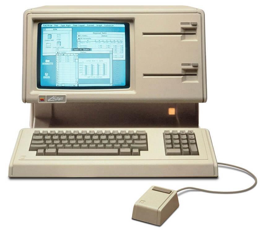 正在运行的 Apple Lisa