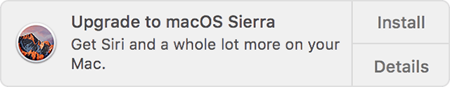 自动更新 macOS 通知