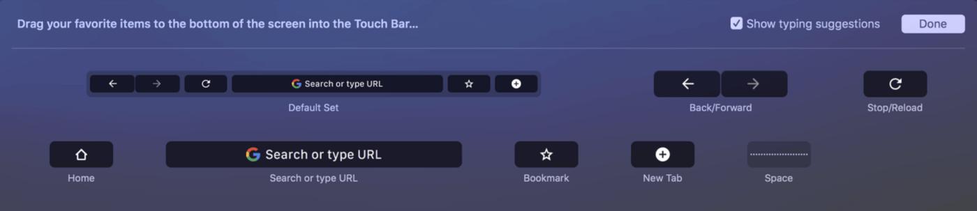 自定义 Chrome 的 Touch Bar