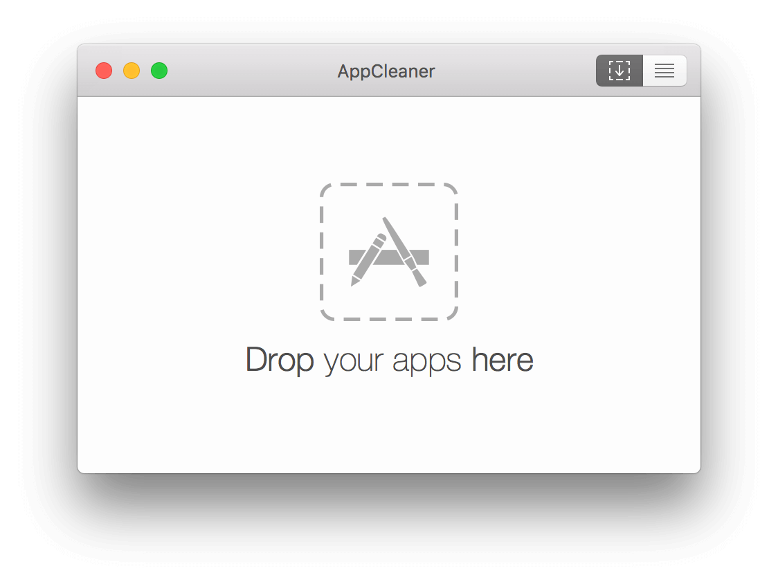 AppCleaner 主界面