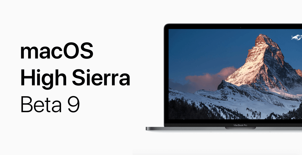 macOS High Sierra beta 9 logo