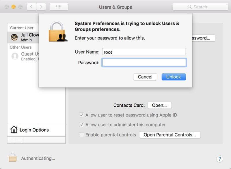 macOS High Sierra 漏洞演示