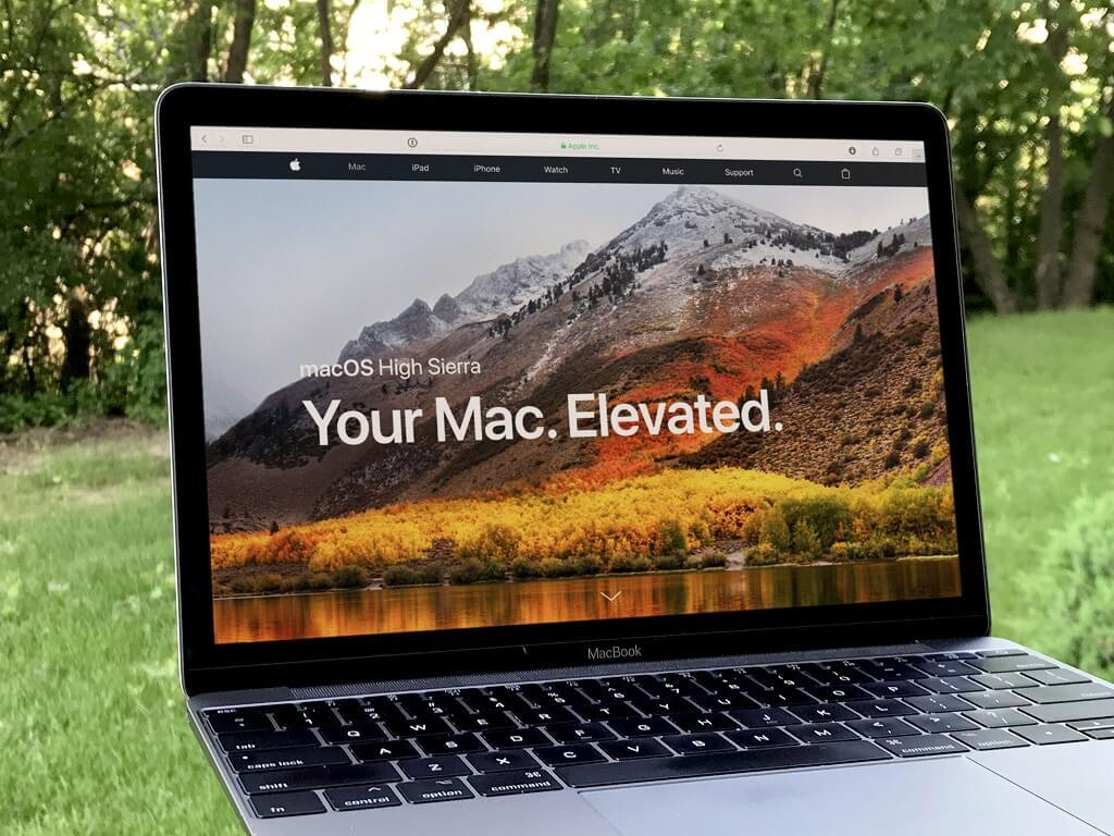 一台运行了 macOS High Sierra 的 Mac