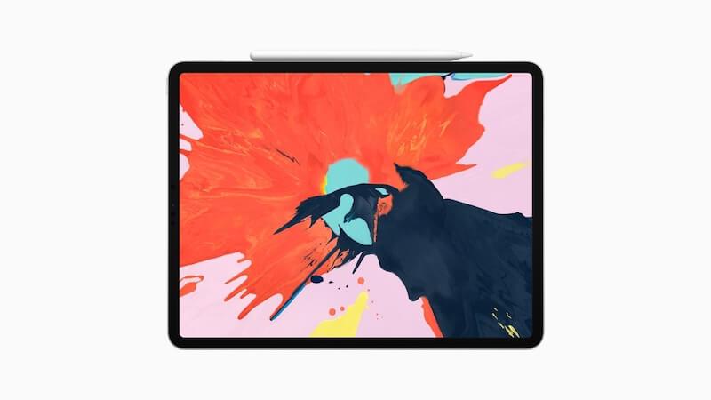 在 iPad Pro 上无线充电中的 Apple Pencil 2