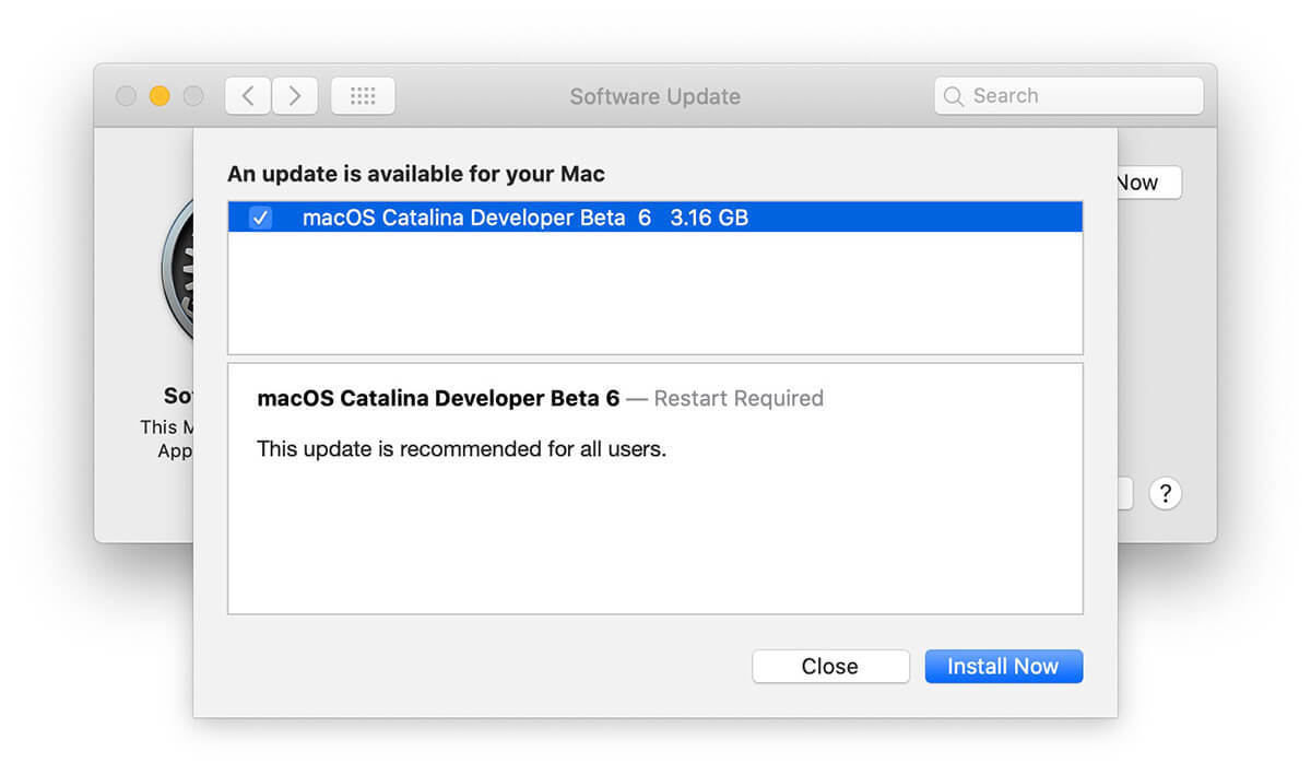 macOS Catalina 10.15 Beta 6 更新