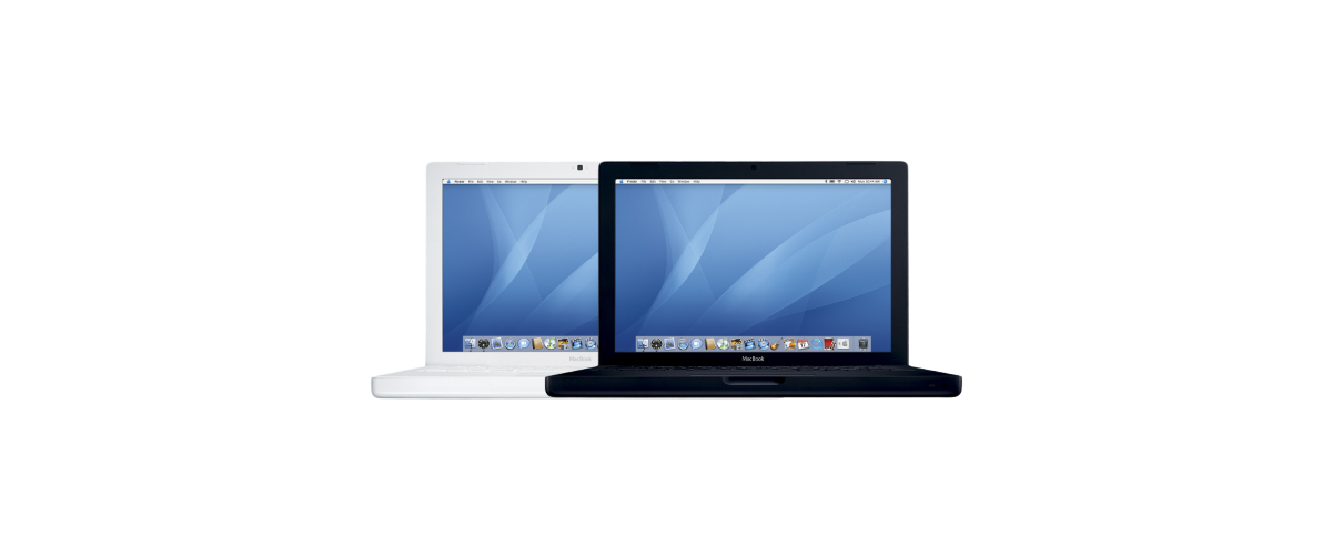 MacBook Early 2006 黑白色样式图